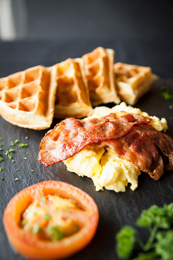 Bacon Waffles And Eggs